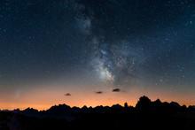 Milkyway On Dolomites, Italy