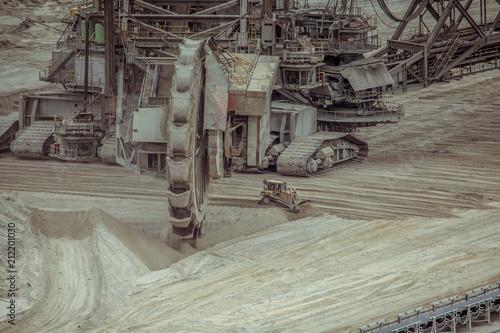 Poster Donkergrijs coal mining Landscape Inden Germany RWE Power Industry