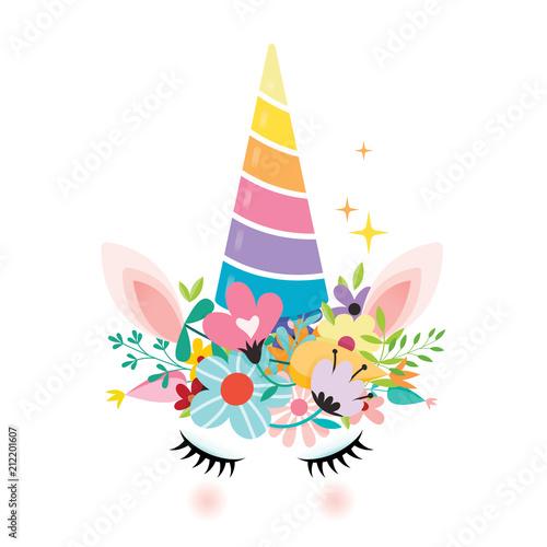 In de dag Regenboog Unicorn Design Vector Illustration