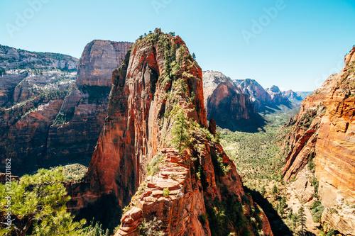 Fotografie, Obraz  amazing angels landing trail at Zion national park, Usa