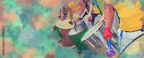 Canvas Prints Brazil Scenes of Samba festival