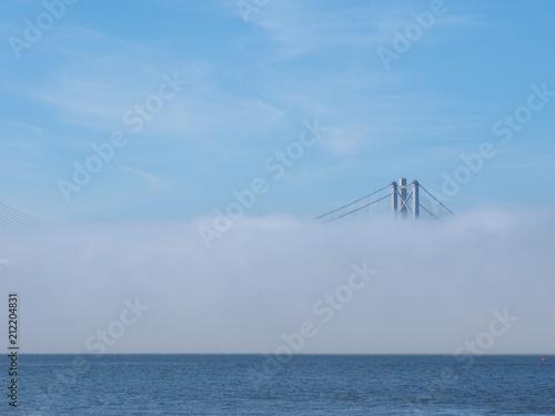 Fototapeta Forth Road Bridge over Firth of Forth in Edinburgh obraz na płótnie