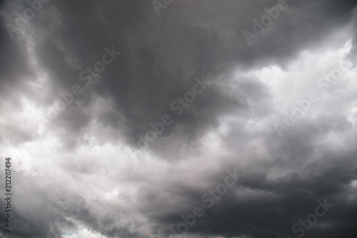 Canvas Prints Heaven Thunderclouds in the sky as a background