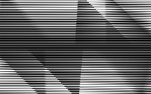 Monochrome Stripe Waving Line Background Pattern