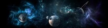 Planets And Galaxy, Science Fi...