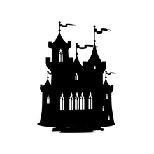 Silhouette Of A Fairy Castle