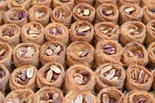 Keuken foto achterwand Koekjes traditional sweet baklava