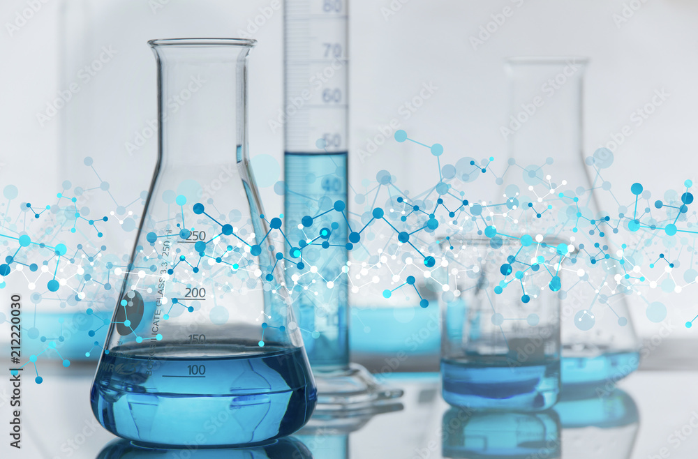 Fototapeta molecole, chimica, fisica, sfondo