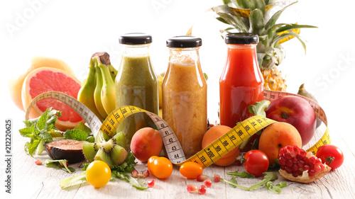 detox juice, healthy drink concept
