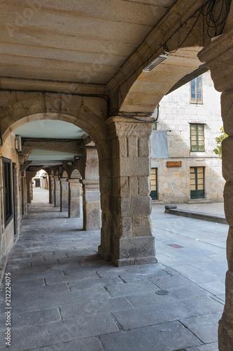 Foto op Aluminium Oude gebouw Street with arcades