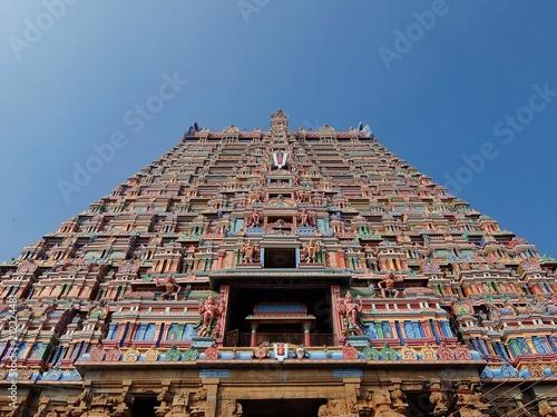 Foto op Aluminium Oude gebouw View of Sri Ranganathar Swamy Temple in Srirangam, Trichy.