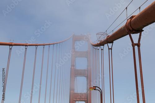 Zdjęcie XXL Wierza Golden Gate Bridge w mgle, San Fransisco, Kalifornia, USA