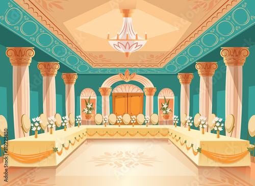 Papel de parede Vector hall for banquet, wedding