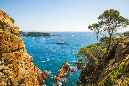 Sunny summer day in Costa Brava Canvas Print