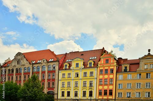 Photo Stands Kolorowe kamienice na wrocławskim rynku.