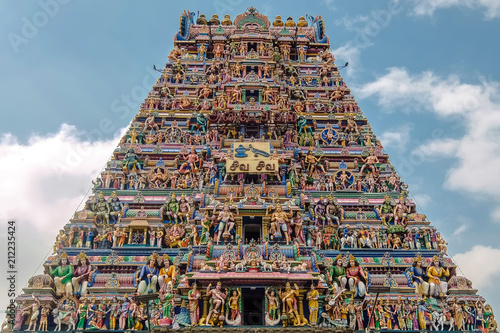 Spoed Foto op Canvas Bedehuis Chennai, India. View of Arulmigu Kapaleeswarar Temple in Chennai.