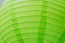 Close Up Of Green Paper Chinese Lantern As Background