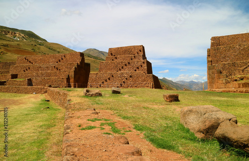 Spoed Foto op Canvas Zuid-Amerika land Piquillacta or Pikillacta, a well preserved Pre-Inca archaeological site in the South Valley, Cusco, Peru
