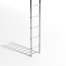 Silver Wall Ladder Isolated On...