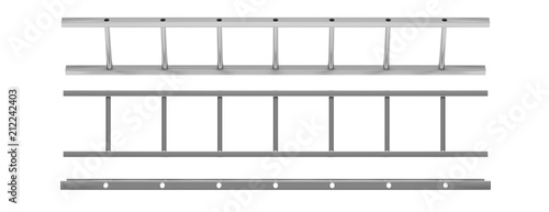 Fototapeta Wall ladder model isolated cutout on white background