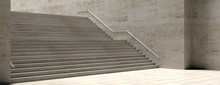 Stone Stairs And Wall With Met...