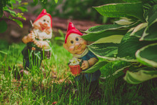 Cute Little Gnome Garden Model, Summer Decorative Statue, Outdoor Sculpture, Fantasy Figure In Grass