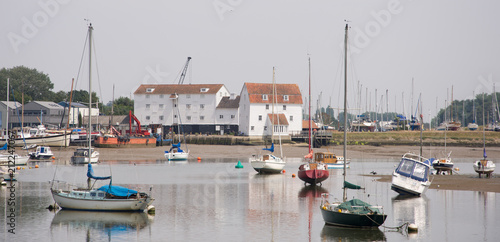 Canvas Print Woodbridge on River Deben in Suffolk UK with Tide Mill