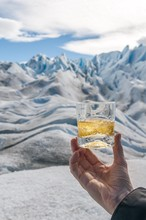 Whiskey On Rocks, Usually Served After Glacier Trekking Using Ice Mined From The Perito Moreno Glacier, El Calafate, Patagonia, Argentina.