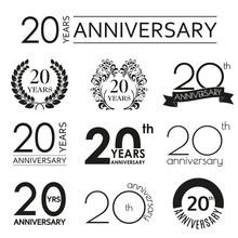 20 Years Anniversary Icon Set....