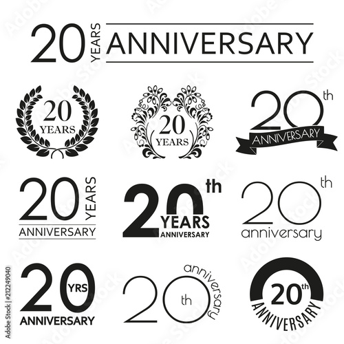Fotografia  20 years anniversary icon set