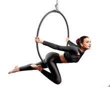 Woman Doing Gymnastic Exercise...