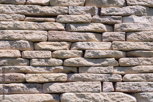 In de dag Stenen light stone wall. Texture background