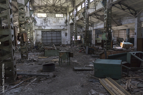 Ruins of buildings, abandoned Factory