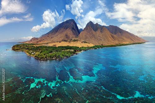 Photo  Hawaii Aerial Panorama - Island of Maui - Olowalu Area