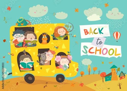 Dzieci w drodze do szkoły