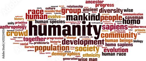 Fotografie, Obraz  Humanity word cloud