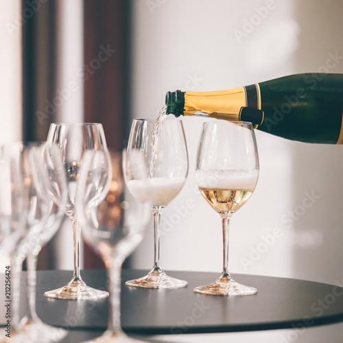 Tasting White Champagne Fototapeta