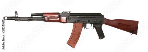 Photo Gun assault rifle isolated.