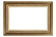 canvas print picture - Vintage golden frame