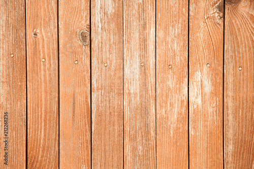 Tuinposter Hout Old wood background with shabby red paint.close-up