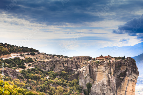 Foto op Canvas Historisch geb. Monastery of the Holy Trinity i in Meteora, Greece
