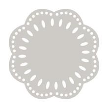Paper Doily Cake Round Napkin Vector. Decorative Plate Template.
