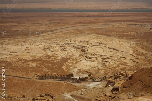 Staande foto Oceanië Picturesque ancient mountains about the Dead Sea in Israel
