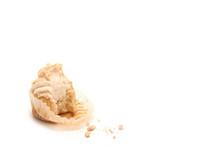 Partially Eaten Cupcake