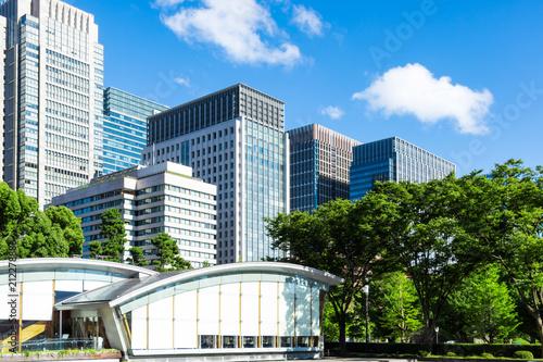Photo  (東京都ー都市風景)和田倉噴水公園から見る丸の内ビル群6