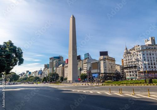 Staande foto Buenos Aires Buenos Aires Obelisk at Plaza de la Republica - Buenos Aires, Argentina