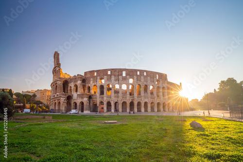 Fototapeta Widok Colosseum w Rzym, Włochy