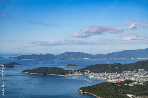 Fototapety, obrazy: Port town and many islands on the seto inland sea,Takamatsu,Kagawa,Shikoku,Japan