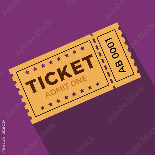 Photo Ticket illustration in the flat style