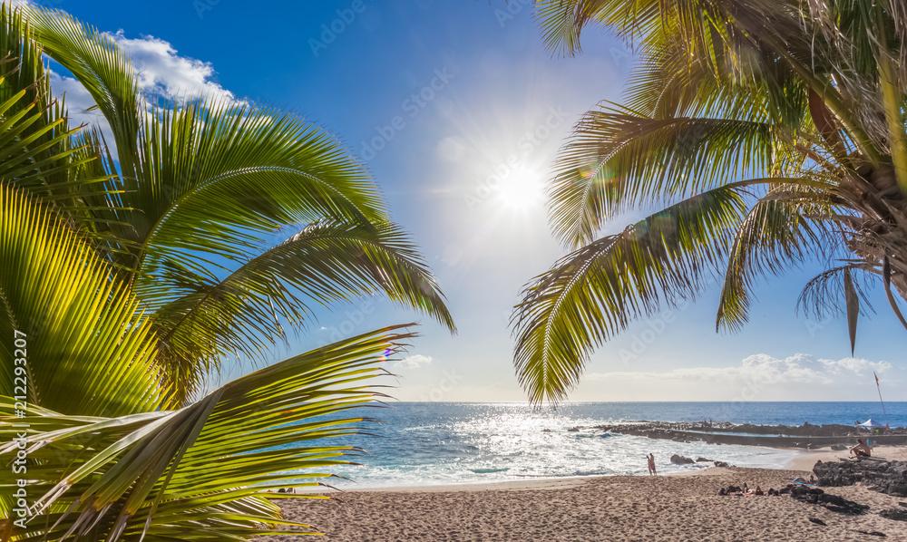 Fototapeta plage de Boucan Canot, île de la Réunion